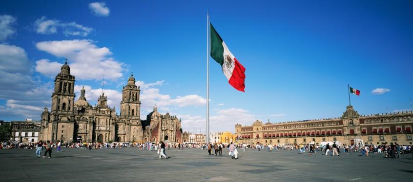 Plaza de la constitución en México